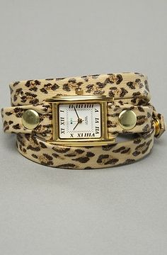 The Leopard Animal Print Watch in Gold by La Mer   Karmaloop.com - Global Concrete Culture - StyleSays