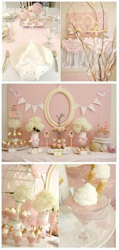 Love this! Would be a beautiful baby shower or first bday look!
