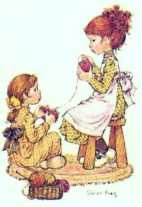 this is how i picture my (future) daughter and i, with me teaching her how to knit...so cute