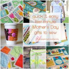quick & easy last minute Mother's Day gifts to sew
