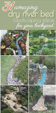 31 Amazing Dry River Bed Landscaping Ideas You Will Love 2020 – A Nest With A Yard – Landscaping 2020 Cheap Landscaping Ideas, Home Landscaping, Front Yard Landscaping, Backyard Ideas, Outdoor Ideas, Country Landscaping, Backyard Patio, Patio Ideas, Outdoor Decor