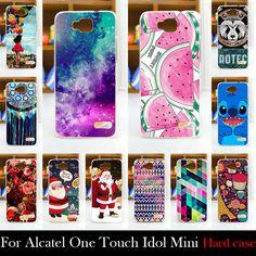 대한 alcatel one touch idol mini ot6012a 6012 w 6012x 6012d 하드 플라스틱 핸드폰 마스크 case 보호 커버 주택 피부