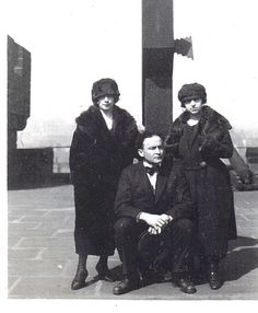 Harry, Bess (left) and his sister Gladys, known as Carrie.