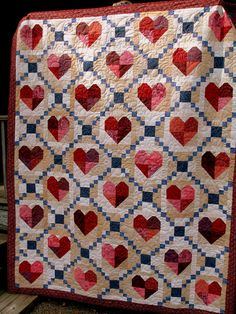 Cross My Heart Loving Hands In All Seasons Quilt Guild Raffle Quilt ~ Quilted by Jackie