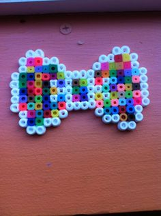 Colorful perler Bow by AgateophobicDetraque on deviantart