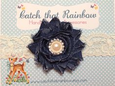 Your place to buy and sell all things handmade Cute Headbands, Headband Baby, Denim Flowers, Rainbow Hair, How To Find Out, Crochet Earrings, Bows, Fabric, How To Wear