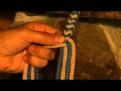 How to braid 8 strands around a core - YouTube