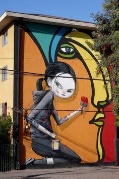Graffiti art , street art , Urban art art Life style by urbanNYCdesigns Murals Street Art, 3d Street Art, Street Art Utopia, Best Street Art, Amazing Street Art, Street Art Graffiti, Street Artists, Amazing Art, Graffiti Girl