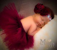 The Sherrie tutu and headband newborn set  ready by mimislullaby