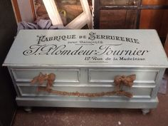 Cedar Hope Chest Trunk in Victorian French Blue by SameAsNever