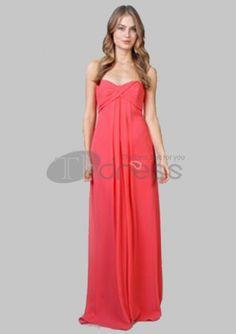 Long Evening Dresses-Amazing Empire Sweetheart Floor-Length Chiffon Charmeuse Long Evening Dresses