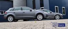 Double carwrap Grey Matte Metallic #Avery #3M #Audi #A3 #wrappedby #VinyTouch