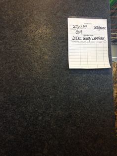 """The official granite! Steel Gray """"Leather"""" not a polished finish. actually has a leather texture to it (but is actually even more durable than polished granite!) KITCHEN ISLAND AND MUDROOM Outdoor Kitchen Countertops, Granite Kitchen, Concrete Countertops, Kitchen Reno, Kitchen And Bath, New Kitchen, Kitchen Remodel, Kitchen Ideas, Kitchen Counters"""