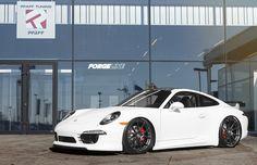 Pfaff Tuning's Porsche 991 GT3 Alternative on Forgeline One Piece Forged Monoblock GA1R Wheels - Learn more at www.motoroso.com