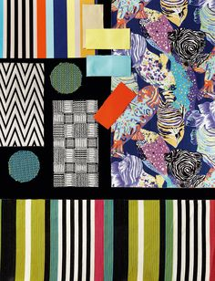 The moodboard of TROPICAL FISH outdoor collection MissoniHome 2016
