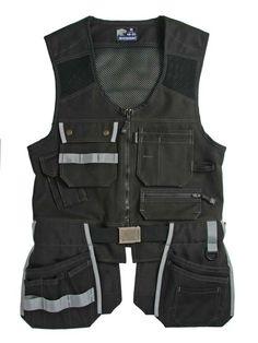 Faceline Workwear Vests - Jubilee Workwear Collection - products new home - Faceline Workwear_Carpenter_Jubilee_Tool pocket_Work Vest_Black by Björnkläder