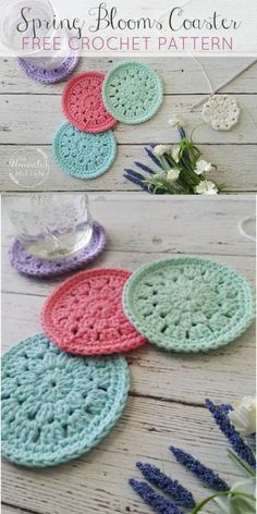 Free crochet coaster patterns,Spring Blooms Crochet Coaster Free Pattern-These free crochet coaster patterns are so cool and would be appreciative by all of your visitors and crochet enthusiasts and really amazing and stylish too. Crochet Mat, Crochet Coaster Pattern, Crochet Fruit, Crochet Sunflower, Crochet Gifts, Crochet Flowers, Free Crochet, Crochet Daisy, Crochet Things