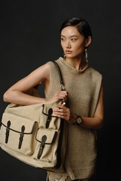 This season, Ralph Lauren's muses trade tradition for an adventurous escape. Explore more styles like the Suede-Laced Sleeveless Mockneck Sweater and Washed Canvas Large Bridle Bag from Collection Pre-Fall. Ralph Lauren Collection, Mock Neck, Safari, Fall, Explore, Sweater, Canvas, Style, Fashion