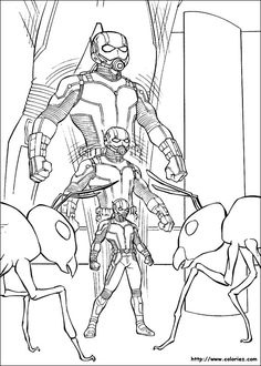 Printable coloring pages - Ant-Man (Superheroes)