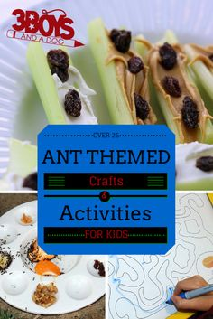 Parent friendly kids crafts - Ant Themed Science Experiments & activities.  Help kids get to know the world around them!  Homeschool or classroom ready ideas!
