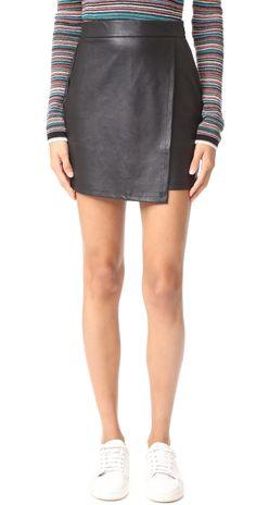 Splendid Faux Leather Skirt | SHOPBOP