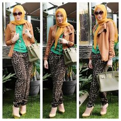 Brown and green and leopard and Hermes. @dssaaksss on Instagram