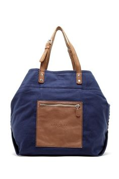 Beta Small Cotton Leather Mix Tote by Liebeskind Berlin on @HauteLook