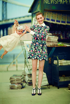 Sasha Pivovarova and Mia Isis // Photographed by Boo George, Vogue, December 2013