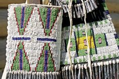knife case and Sioux-style strike-a-light bag. Both items are beaded ...