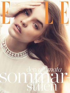 Barbara Palvin by Andreas Sjödin for Elle Sweden July 2015