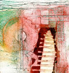 These look 3D but they are    collagraph prints   akua inks   on BFK.     I am    VERY PLEASED   with the results.     Enjoy.           ...