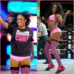 Trinity Fatu aka Naomi Knight pretty in pink for the BC cure month