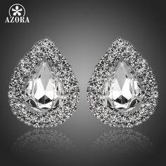 Waterdrop Design Clear Cubic Zirconia Stud Earrings Like and Share if you want this Visit us Diva Fashion, Trendy Fashion, Fashion Beauty, Womens Fashion, Fashion Accessories, Fashion Jewelry, Women Jewelry, All About Fashion, Passion For Fashion