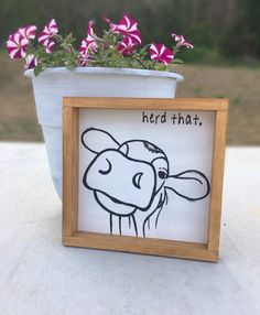 Excited to share this item from my shop: Cute Farm Wood Sign Cow Herd That Cow Kitchen Decor, Cow Decor, Kitchen Dining, Dining Room, Wall Decor, Christmas Wood, Christmas Signs, Painted Signs, Hand Painted