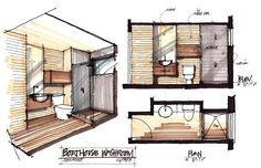 And this is the 45 Interior Design Sketch Board Behance Presentation, try this for your presentation with the picture board. Interior Design Renderings, Drawing Interior, Interior Rendering, Interior Sketch, Floor Plan Rendering, Floor Plan Sketch, Rendering Drawing, Interior Design Portfolios, Interior Ideas