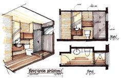 Rendering. Muskoka Boathouse, Christopher Simmonds Architect. Ontario, Canada.