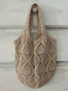 Diy Crafts - Thank you for stopping by!This listing is for a crocheted net bag. Crochet Pouch, Filet Crochet, Crochet Gifts, Crochet Yarn, Crotchet Bags, Knitted Bags, Crochet Handbags, Crochet Purses, Crochet Shell Stitch