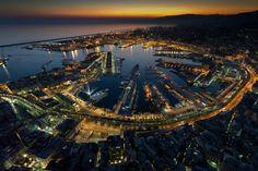 Genova veduta notturna