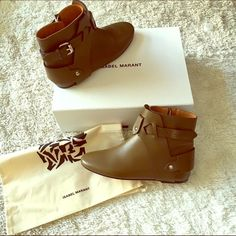 NIB adorable Isabel Marant ankle booties Brand new greyish brownish ankle boots! So comfy and so stylish! Comes with box and dust bag. No trades . Isabel Marant ✨ Isabel Marant Shoes Ankle Boots & Booties