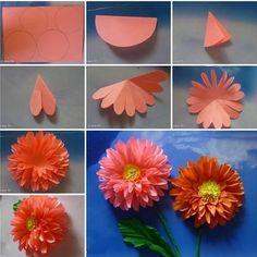 Цветы-поделки из бумаги своими руками - схемы, фото и видео