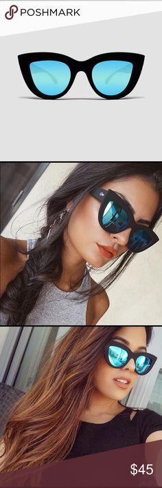 81fb75adbe274 Quay Kitty Sunnies Matte black frame with blue mirror lens. price is firm ✓ ️NWT ✓️Runs true to size ✓️No bundle Quay Australia Accessories Sunglasses