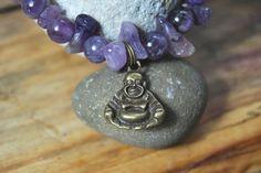 Amethyst - Armband mit Buddha - Anhänger von DaiSign  http://de.dawanda.com/product/60851151-Armband-Buddha-Amethyst