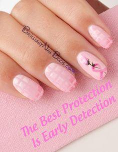 Pink ribbon nails-2 text | Flickr - Photo Sharing!