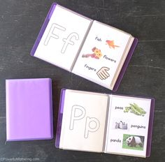 Free printable alphabet letters & pictures flip book