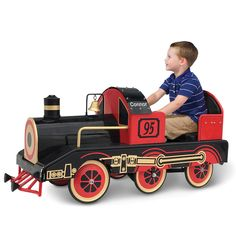 The Personalized Golden Era Pedalled Locomotive - Hammacher Schlemmer