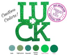 A personal favorite from my Etsy shop https://www.etsy.com/listing/511014743/diy-st-patricks-luck-iron-on-vinyl