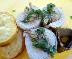 Pork Tenderloin With Oyster Mushrooms and Parsley