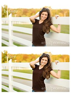 Senior Photography Before and After