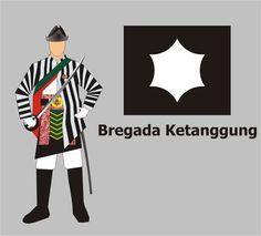 BREGADA PRAJURIT KETANGGUNG    Berikutnya adalah Bregada Prajurit Ketanggung. Para prajurit dalam bregada ini pada jamannya bertanggung jawab atas keamanan di lingkungan Keraton, sebagai penuntut perkara, serta berkewajiban mengawal Sultan pada setiap kunjungan keluar Keraton.