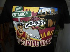 NBA MAJESTIC T-SHIRT LABRON JAMES IAM COMING HOME NEW MED. #Majestic #ClevelandCavaliers